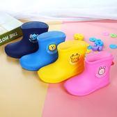 兒童雨鞋 男童水鞋女童加絨保暖防滑寶寶雨靴小孩幼兒膠鞋 【萬聖節推薦】