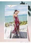 巴厘島沙灘裙海邊度假長裙泰國新款女夏小心機漏背顯瘦洋裝 「潔思米」