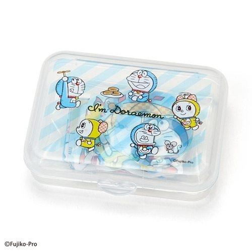【震撼精品百貨】Doraemon_哆啦A夢~Sanrio 哆啦A夢散裝貼紙組附收納盒(40枚入)#87552