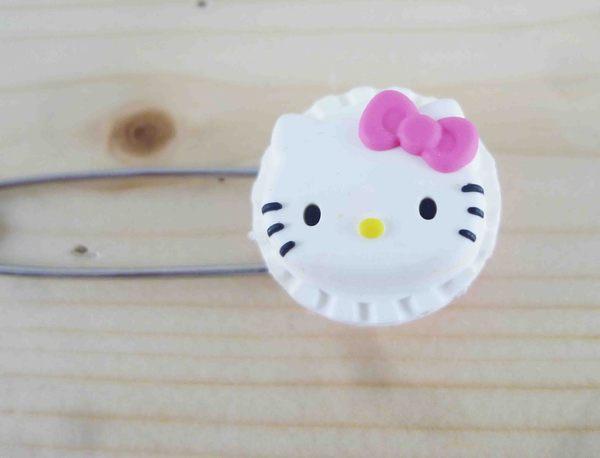 【震撼精品百貨】Hello Kitty 凱蒂貓~KITTY安全別針-大頭圓造型-白色