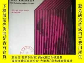 二手書博民逛書店SPEAK罕見TO LEARN Oral English for Academic PurposesY1614