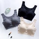 全館八折最後兩天-日本內衣女套裝無鋼圈聚攏防震胸罩無痕大碼跑步背心瑜伽運動文胸