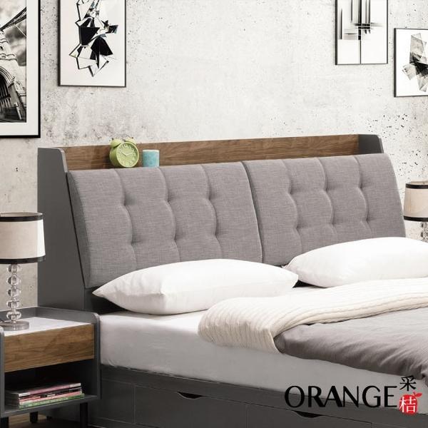 【采桔家居】奈洛比 現代6尺亞麻布雙人加大床頭箱(不含床底+不含床墊)
