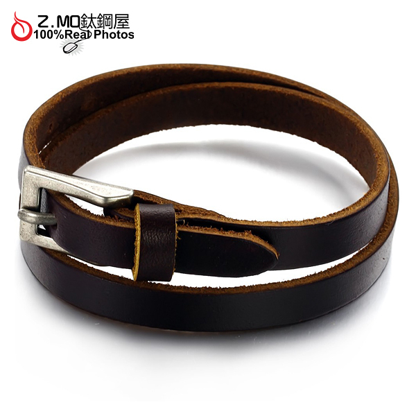[Z-MO鈦鋼屋]優質皮手環/皮帶設計/經典復古造型/中性男孩皮環推薦單件價【CKL768】