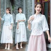 2020春夏復古中國風旗袍上衣改良式時尚民國女裝盤扣唐裝 十一週年降價