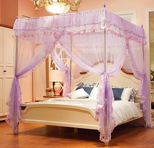 蚊帳 落地新款 公主風蚊帳支架加密1.5m加厚1.2床家用1.8米【限時八五鉅惠】