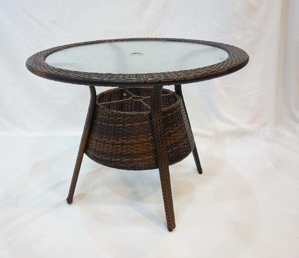 【南洋風休閒傢俱】戶外休閒桌椅系列-80公分鋁合金休閒編藤餐桌  戶外餐桌 (624-3)