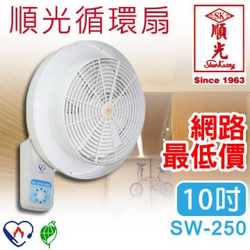 【有燈氏】順光★台灣製造-10吋-壁掛式/掛壁式-空氣對流循環扇★變速開關/電風扇 SW-250