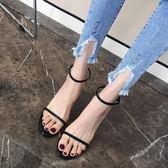 女士涼鞋透明露趾8cm高跟性感夜店細跟一字帶貓跟女鞋 黛尼時尚精品