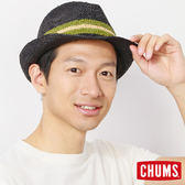CHUMS 日本 風格紳士編織草帽 紳士帽 黑 CH051086K001