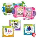 【熱銷進階組】美國 LeapFrog 跳跳蛙 LeapStart Sr. 全英幼童行動學習機-新版(白/粉)+3本學習書