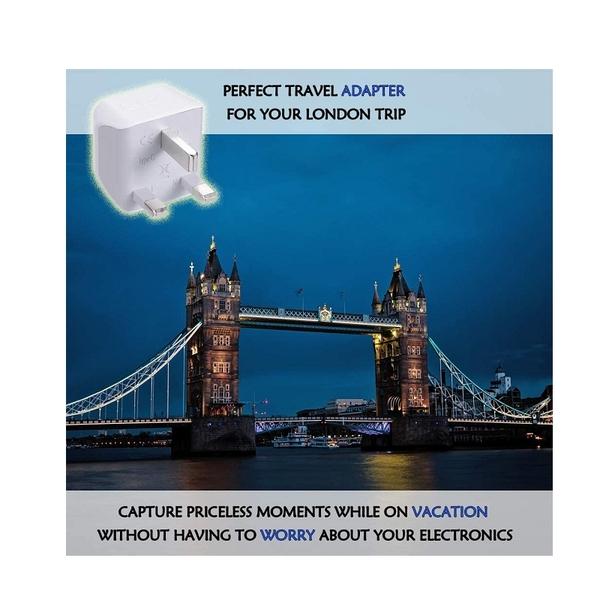 Ceptics 插頭 轉換器 CT-7 G型 3入 適用英國 香港 愛爾蘭 [2美國直購]