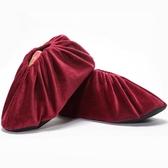 絨布鞋套家用布可反復洗兒童腳套室內防沙加厚防滑底機房鞋套學生 【快速出貨】