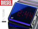 【完全計時】手錶館│DIESEL 銀面太空反光 個性時尚表露無遺 DZ7107手環錶 電子數字顯示