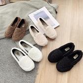 懶人鞋 泰迪卷毛豆豆鞋女冬季外穿百搭平底網紅毛毛鞋一腳蹬懶人加絨女鞋【【八折搶購】】
