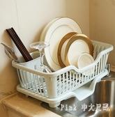 瀝水碗架瀝水架瀝碗架塑料置物架廚房餐具收納筐放碗架碗盤加厚 JY6857【pink中大尺碼】