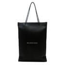 BALENCIAGA巴黎世家 黑色牛皮購物袋造型大方包 Shopping Bag North South M BRAND OFF