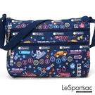 LeSportsac - Standard 橫式三層拉鍊斜背包 (迪斯可之夜) 3352P F694