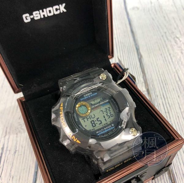 BRAND楓月 CASIO 卡西歐 G-SHOCK GWF-1000G 黑橡膠金字 光能 電子錶 手錶 腕錶 蛙人系列
