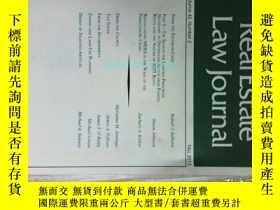 二手書博民逛書店REAL罕見ESTATE LAW JOURNAL FALL 2013 房地產法律雜誌 法律學術Y14610