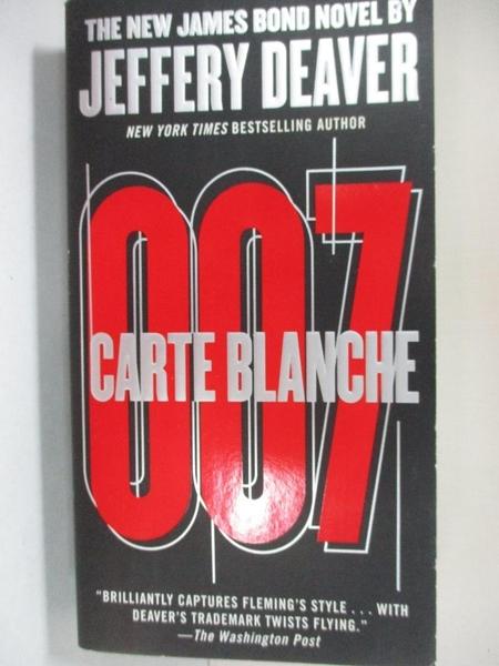 【書寶二手書T3/原文小說_A5O】Carte Blanche_Deaver, Jeffery