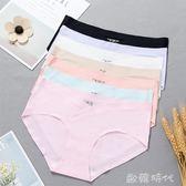 孕婦內褲純棉襠懷孕期透氣低腰大碼冰絲薄款無痕孕產婦底褲 歐韓時代