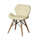 【森可家居】思麗米白色餐椅 10ZX717-15 北歐風