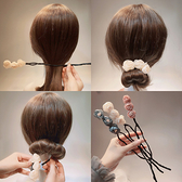 盤髮器 韓國東大門頭飾品森女韓式雪紡碎花蝴蝶結盤髮器工具丸子頭花苞頭 店慶降價