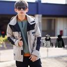 外套 韓國製配色拼接衝鋒機能工裝外套風衣外套【NB0989J】