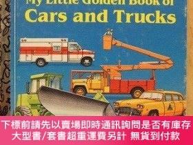 二手書博民逛書店My罕見Little Golden Book of Cars and Trucks-我的小金典汽車和卡車Y41