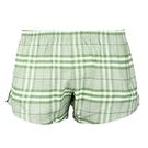 BURBERRY 經典格紋棉質家居短褲(綠色)085195-5