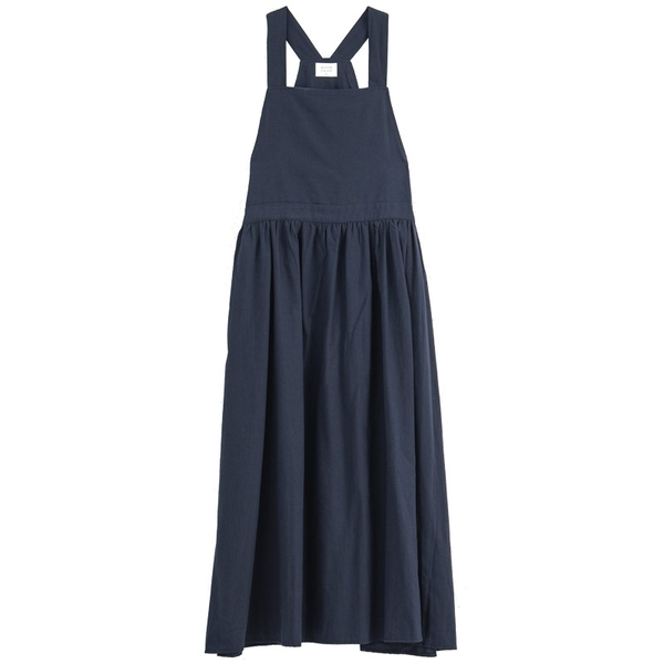 Queen Shop【01085300】腰部鈕釦設計傘擺背心洋裝 三色售*現+預*