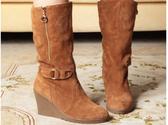 坡跟中筒靴-性感設計精美女靴子3色ws23【巴黎精品】