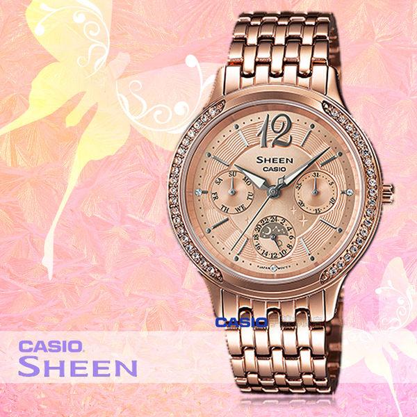 CASIO 卡西歐 手錶專賣店 SHE-3030PG-9A 女錶 不鏽鋼指針錶帶  三眼 防水 全新品 保固一年