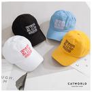 Catworld NYC撞色文字刺繡棒球帽【18003492】‧F