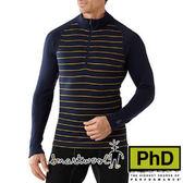 Smartwool 男美麗諾羊毛長袖立領排汗衣 深藍 SW0SS616 厚保暖排汗衣 美麗諾羊毛衣 內搭衣