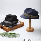 草帽大頭圍男士夏季英倫爵士帽潮人禮帽沙灘帽遮陽帽潮男女親子春季新品