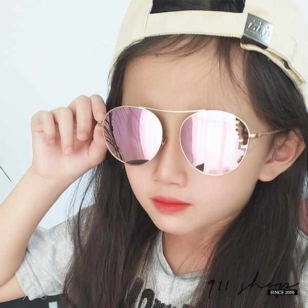 Ardor.金屬細框無鼻框橢圓水銀小孩兒童抗UV400偏光太陽眼鏡【f5074】911 SHOP