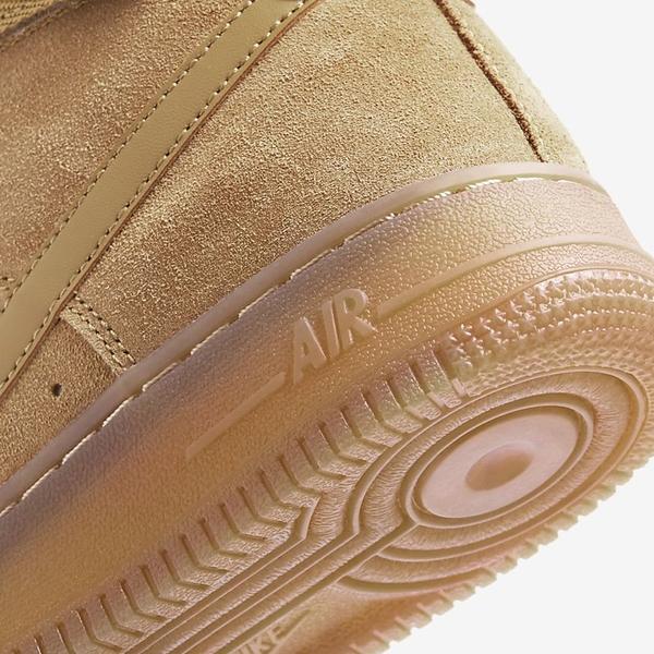 NIKE Air Force 1 High LV8 3 GS 大童 女鞋 高筒 休閒 柔軟麂皮 緩震 經典 黃駝【運動世界】CK0262-700