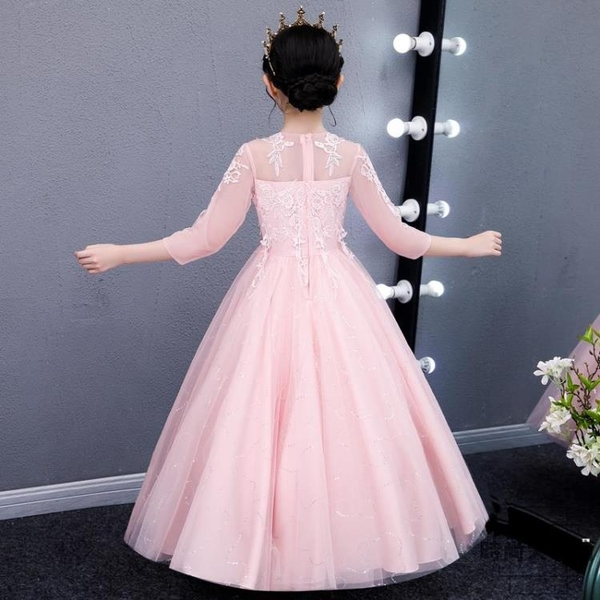 洋裝女童公主裙兒童連身裙演出中大童禮服長裙蓬蓬紗裙【時尚大衣櫥】