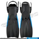 開口式潛水橡膠蛙鞋 (多色可選)   F-JS701B  【AROPEC】