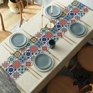 桌布防水防油防燙簡約北歐免洗餐桌布臺布茶幾布桌墊【古怪舍】