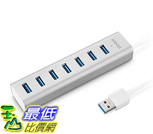 [106美國直購] Anker Unibody USB 3.0 7-Port Aluminum Hub with Built-in 1.3ft USB 3.0 Cable 集線器/充電器