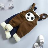 兒童男童背帶褲0加絨加厚1冬裝2女寶寶棉褲3嬰兒褲子