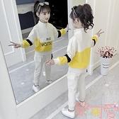 童裝女童秋裝套裝兒童女孩大童運動兩件套【聚可愛】