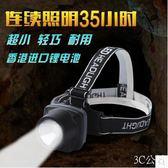 頭燈強光防水LED充電式鋰電應急戶外遠射程夜釣魚頭戴照明
