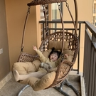 天然真藤純手工編織陽台吊籃露天秋千鳥巢吊椅北歐室內吊籃藤椅 星河光年DF