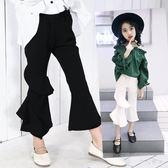 喇叭褲2018新款潮韓版洋氣喇叭褲女童休閒褲zzy3889『伊人雅舍』