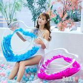 游泳圈大人救生圈女成人透明羽毛泳圈充氣玩具浮圈腋下圈 xy5288【原創風館】
