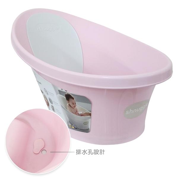 英國Shnuggle 澡盆/浴盆(月亮/洗澡神器)-粉紅色/新增排水孔設計(水塞版)[衛立兒生活館]